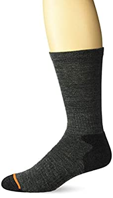 Weatherproof Men's 3 Pack Crew Socks, Charcoal, 10-13