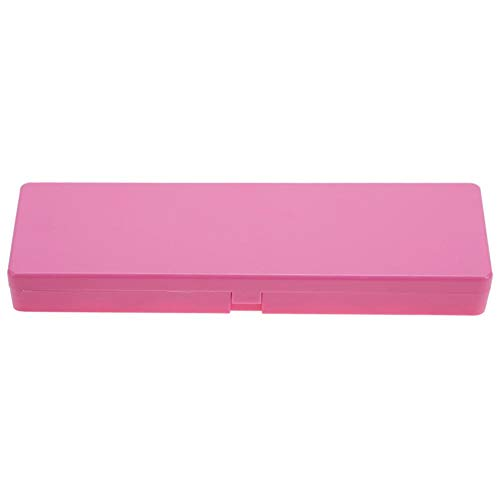 Paleta de manicura de 24 cuadrículas, pintura de paleta de arte de uñas Caja de mezcla de color de pigmento de acuarela Bandeja de dibujo de manicura(Rosa roja)