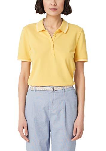 s.Oliver RED Label Damen Poloshirt aus Piqué Lemon Squeeze 36