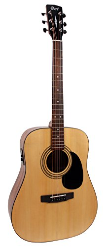Cort AD810EOP Standard Dreadnought Acoustic-Electric Guitar Spruce Top, Mahogany Back & Sides, Open Pore
