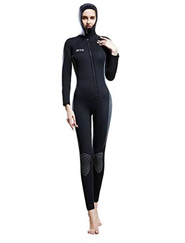 Traje de neopreno de 5 mm para hombres y mujeres, traje de buceo de cuerpo entero a prueba de frío grueso y cálido, traje de baño de una sola pieza, mujer, XS
