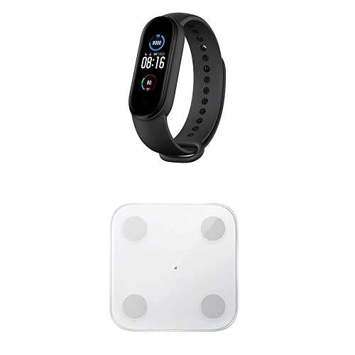 Xiaomi MI Smart Band 5, Schermo 1.1  AMOLED + Mi Body Composition Scale 2, Bilancia Pesa Persona Digitale