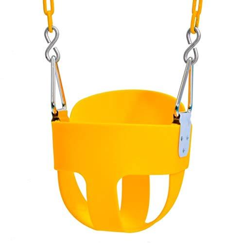 WINBST Columpio infantil Eva con cadenas, 1,68 m y hebillas, carga de 140 libras, columpio infantil, asiento completo para interior y exterior