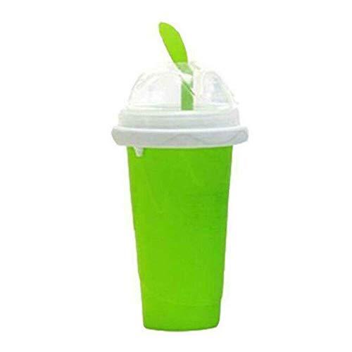 Slushy Ice Cream Maker Squeeze Peasy Slush Quick Cooling Cup Milchshake Flaschen grün