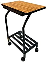 PP Chair Metal Inverter Stand OR Trolley for Home Inverter Battery UPS Made of Metal with Wooden Shelf ON TOP (Single Inve...