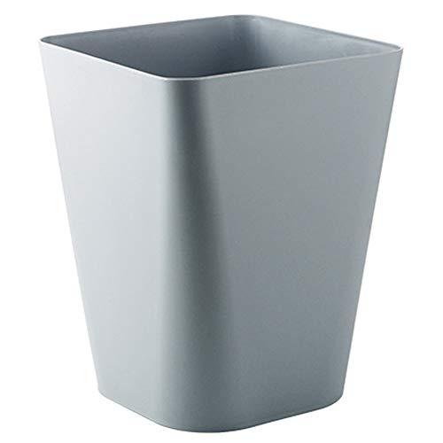 ZYCH Bin Cubo de Basura–Caja para Cosméticos Cuadrada con Cubo de Basura en Plástico Papelera de Oficina,para Cuartos Pequeños–Estable Contenedor de Reciclaje,También para la Cocina Cubo Baño