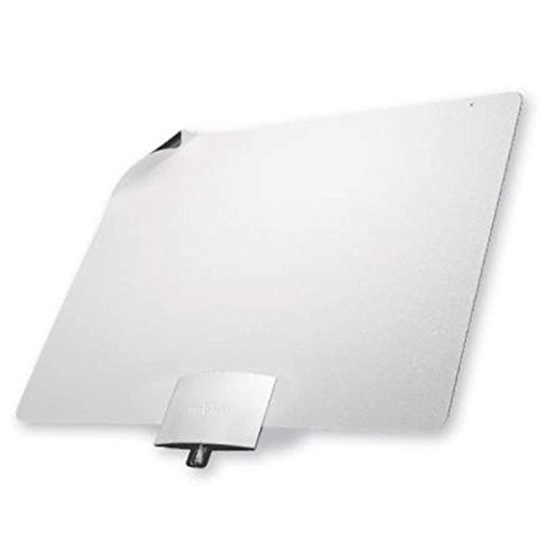 Mohu Leaf Plus Amplified Indoor TV Antenna, 60-Mile Range, UHF/VHF Multi-Directional, Original Paper-Thin Design, 16 ft. Coaxial Cable, 15dB Preamplified, Reversible, Paintable, 4K-Ready, MH-110029