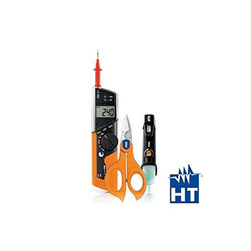 HT712 - Multímetro HT712 + tijeras F50 + buscapollas HT70 - HTI HA712000