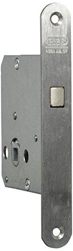 NEMEF 9751620004 Schiebetürschloss   mit Bogenriegel vernickelt   Dornmaß: 55 mm   WC   inklusiv Schließblech