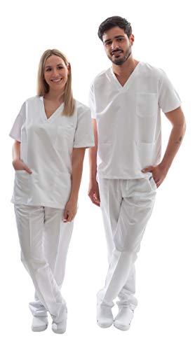 Uniforme Sanitario Unisex Ropa Trabajo Pijama Medico Casaca Enfermero Estetica Peluqueria Veterinaria Hospital Limpieza y Empleado Hogar Antilejía y No Destiñe - M