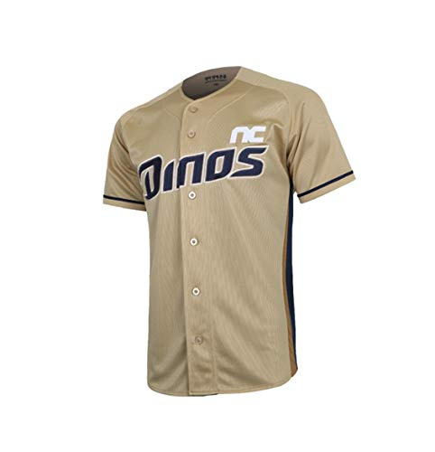 NC KBO Korea Baseball League 2020 Dinos Team Replica Jersey Home Away Uniform | Men Women Girl Goy Quick-Dry Lightweight Comfort (Gold, XXL)