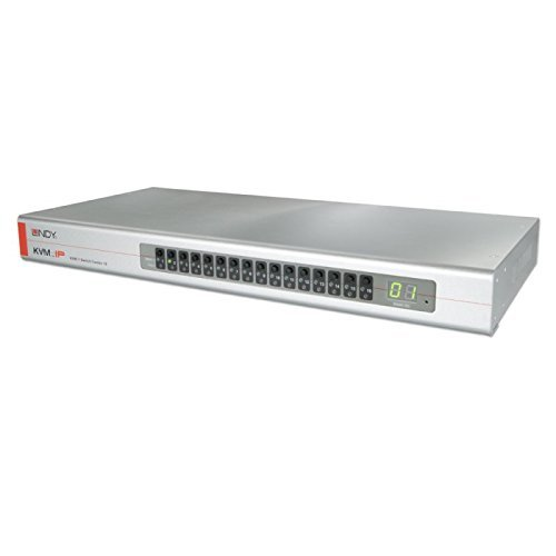 LINDY KVM Switch Combo 16 met 16 USB-PS/2-VGA Server poorten