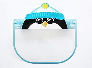 Kids Face Shield Face Full Mask Face Protection Anti-fog Dust-proof Protective Visor Full Face Covering Mask Shield (Blue Penguin)
