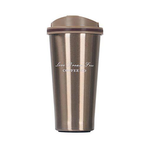 Republe Edelstahl Leakproof Cup Isolier-Flasche Auto-Spielraum Trinken Kaffeetasse-Schale Geschenk 500ml