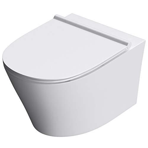 Mai & Mai Hänge-WC Toilette Aachen501 Wand-WC aus Keramik BTH: 36x52x35 cm