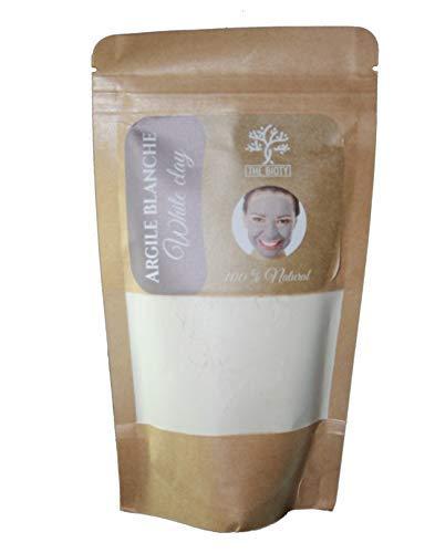 Argile PURE en Poudre 100% naturelle - Purifiante et Tonifiante pour cheveux et visage - du Maroc 200G (200 G) (Blanche)