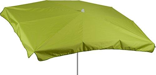 acamp Terrassenschirm wasserabweisend Sonnenschirm Marktschirm 130 x 200 cm in hellgrün Bespannung 100% Polyester wasserabweisend