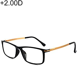 WTYD Clothing and Outdoor Accessories Black Frame Spring Hinge Anti Fatigue & Blue-ray Presbyopic Glasses, 2.00D Outdoor Equipment