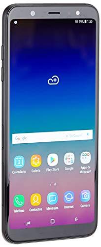 """Samsung Galaxy A6 Plus - Smartphone libre Android 8,0 (6"""" FHD+), Dual SIM, Cámara Trasera 16MP + 5MP Flash (3 nivles) y Frontal 24MP + Flash, Negro, 32 GB 6"""" - Versión española"""