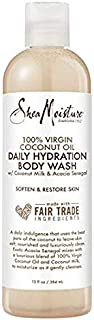Shea Moisture 100% Virgin Coconut Oil Daily Hydration Body Wash, with Coconut Milk and Acacia Senegal, to Soften and Resto...