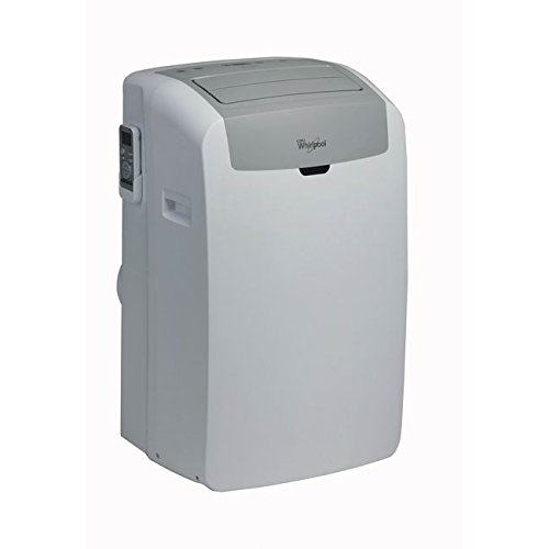 Whirlpool PACW12CO, Climatizzatore portatile, 12000 BTU, classe di efficienza energetica A, display LED, colore: Bianco