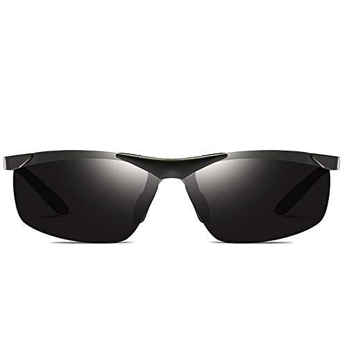DKee Gafas de Sol Gafas De Sol Polarizadas De Aluminio-magnesio for Montar Al Aire Libre UV400 Plateadas/Grises/Negras con Tendencia De Los Hombres Y Mujeres con Las Mismas Gafas De Sol De Conducc