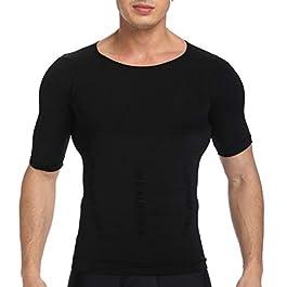SLIMBELLE® Men's Body Shaper Slimming Vest T-Shirt Elastic Slim Shapewear Compression Undershirts Tummy Control Waist Trainer