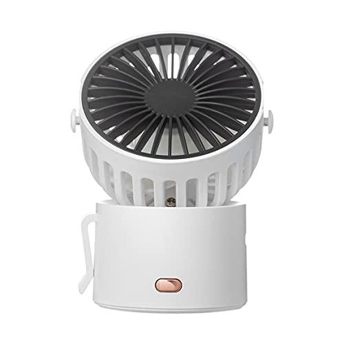 KoelrMsd Ventilador de Escritorio USB Cuello Colgante Velocidad de Viento de Tres Engranajes con Viento Fuerte Operación silenciosa Rotación de 45 ° Mini Ventilador para Dormitorio de Oficina