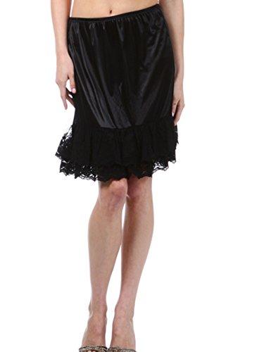 Melody Womens Lace Extender Slip Skirt Half Slip...