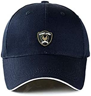 Outdoor sport sunshade baseball cap popular Korea stylish peaked cap for men navy blue BH04-3