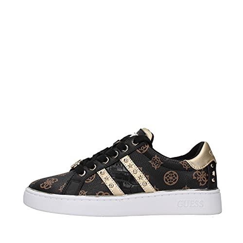 Guess Scarpe Donna Sneaker Bevlee in Ecopelle Brown multilogo D22GU16 FL7BVLFAL12 38