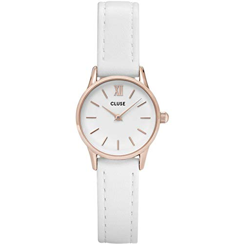 Cluse Damen Analog Quarz Uhr mit Leder Armband CL50030