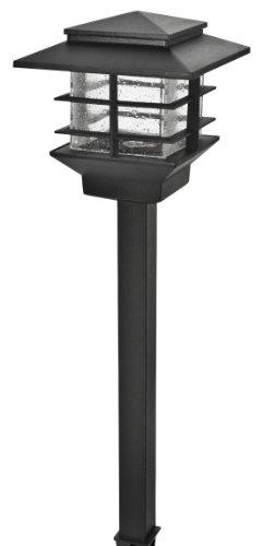 Paradise Gl33870bk basse tension en fonte d'aluminium 3 LED avec détecteur de lumière, Noir