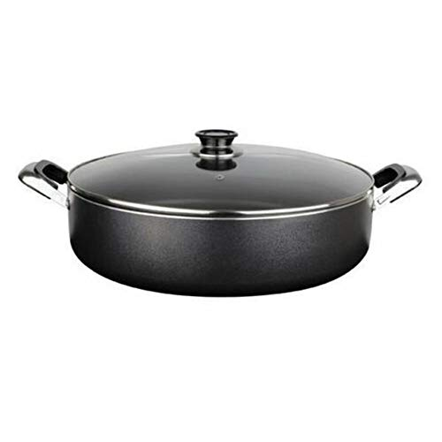 "Thaweesuk Shop Black 5QT 11"" Low Stock PotHeavy Gauge Non-Stick Rice Cooker Skillet Fryer Dutch Oven NEW Gauge Aluminum-Best Hitting Conduct 11"" Diameter x 3"" Deep High of Set"
