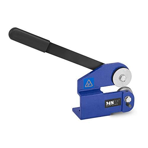 MSW Cizalla Manual Para Metal Guillotina MSW-MPS (Para Chapa Con Espesor Máximo De 1,5 mm, Fabricada En Acero y Acero Colado, Ruedas De Corte Ø48mm)