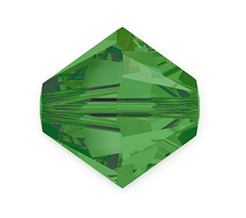 200pcs Adabele Austrian 4mm (0.16 Inch) Small Bicone Crystal Beads Fern Green Compatible with Swarovski Crystals Preciosa 5301/5328 SSB415