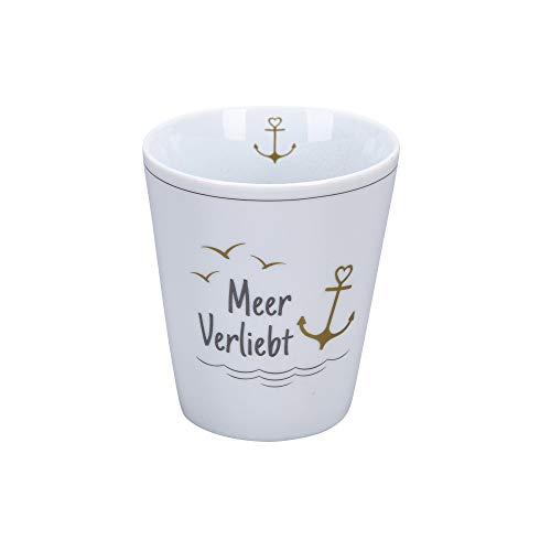 Krasilnikoff - Happy Mug - Becher, Tasse - Meerverliebt - Porzellan - H10 x Ø8,7 cm - Volumen: 330 ml