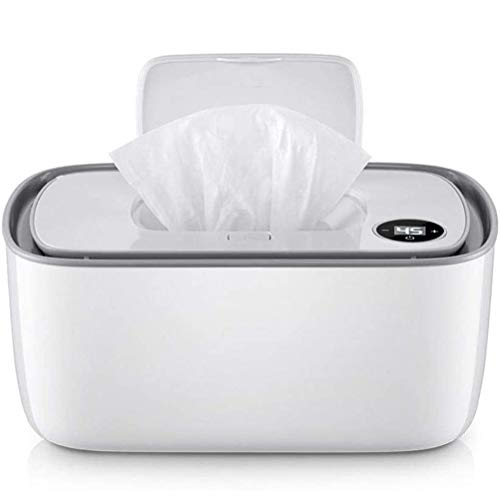 Wopohy Calentador de toallitas para bebé, con función de calefacción, calentador de...
