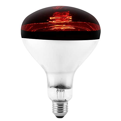 HEEPDD Lampada Rettile Riscaldamento infrarossi, Lampada Tartaruga E27 lampadine riscaldatore emettitore Calore Lampadina Luce Vetro per brooder coop Pollo Lucertola Serpente Ragno 220-240V