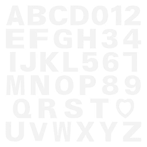 HEMOTON 37Pcs A- Z Alfabeto Número Bolo Stencils 0-9 Bolo Carta Stencil Templates Bolinhos Bolo DIY Cozimento Molde para O Aniversário de Casamento Aniversário
