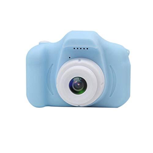 Kinderkamera Digital Kamera Mini Kamera 2.0 Zoll HD 1080P Bildschirm Kamera Video Spiel Multifunktion mit 32GB SD Karte USB Ladekabel Rosa (SD-Karten nicht enthalten) (blue , 48mm*83mm*61mm)