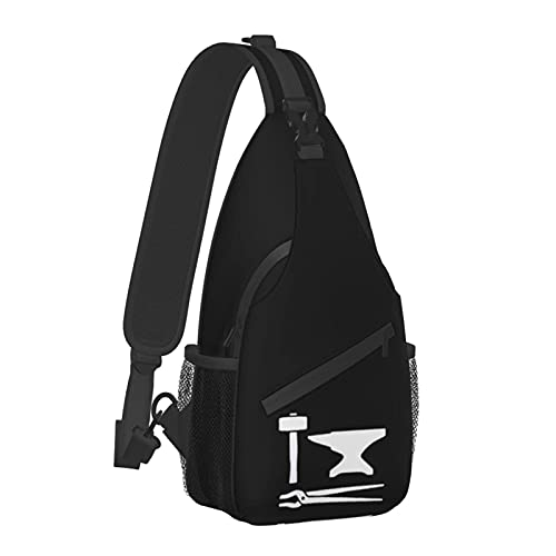 VJSDIUD Brustbeutel Blacksmith Hammer Cotton Calf Socks Men's Sling Bag Chest Shoulder Backpack Travel Hiking Chest Bag