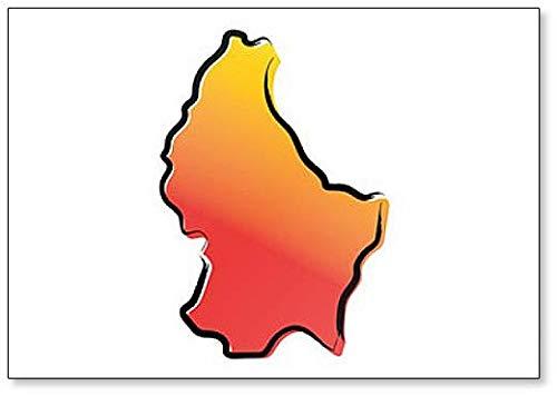 Gestileerde gele rode kaart van Luxemburg Koelkast magneet