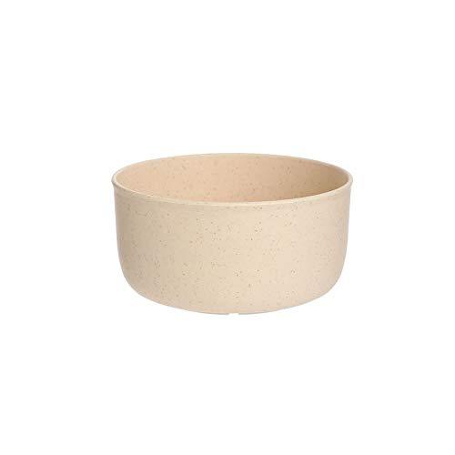 Tazón de paja de trigo de plástico para el hogar, ensalada creativa, vajilla para niños, artículos de vajilla, necesidades diarias, redondo para el hogar, sopa, arroz y sopa (color: beige)