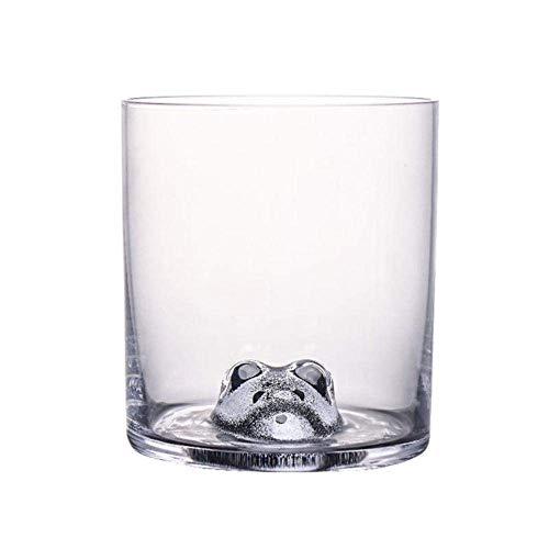 3D stereoscopische Dier Huisdieren Head Crystal Wine Glass Whiskey XO Chivas Whisky GlassesTumbler, Badger lili (Color : Badger)