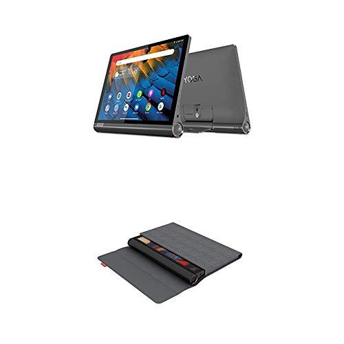 Lenovo Yoga Smart Tab 25, 5 cm (10, 1 Zoll Full HD IPS Touch) Tablet-PC (Qualcomm Snapdragon 439 Octa-Core, 4 GB RAM, 64 GB eMCP, Wi-Fi, Android 9) schwarz + Yoga Smart Tab Sleeve und Schutzfolie grau
