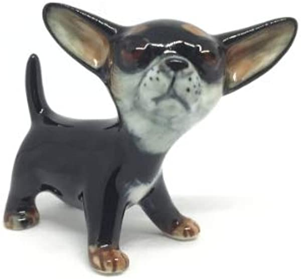 Studio One Handmade Animal Figurine Ceramic Chihuahua Puppy Dog Collection Best Gift