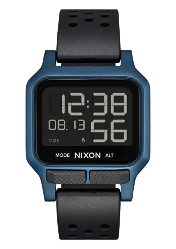 Nixon Herren Digital Quarz Uhr mit Gummi Armband A1320-300-00