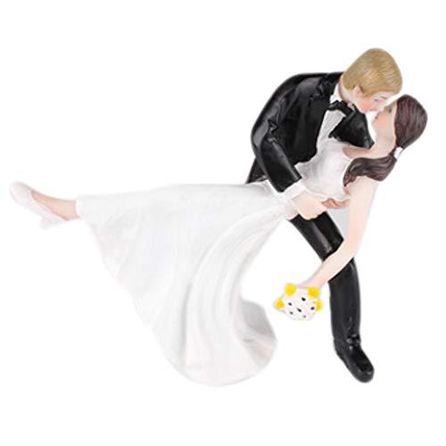 Lumierechat 結婚式 ウェディング ケーキトッパー ウェディングケーキ ケーキ トッパー 飾り デコレーション新郎 新婦 花嫁 a-7346 (F-ハリウッドキス)