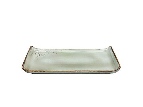 BBQ-Platte |Servierplatte | NATURE COLLECTION | Steinzeug | STONE - Grau | 33 x 16,5 cm